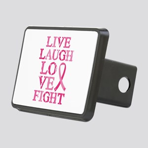 Live Love Fight Rectangular Hitch Cover