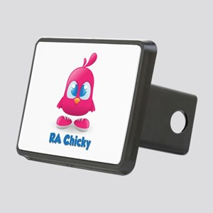 RA Chicks Cute Pink Chicky Rectangular Hitch Cover
