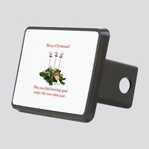 Fencing Christmas Rectangular Hitch Cover