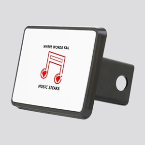 Music Speaks Rectangular Hitch Cover