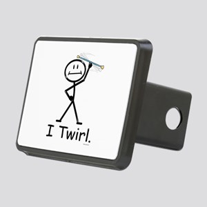 Baton Twirler Stick Figure Rectangular Hitch Cover