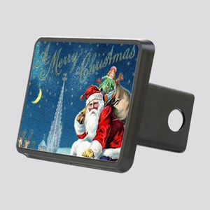 Vintage Santa Christmas Rectangular Hitch Cover