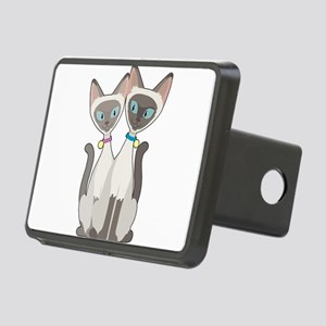Siamese Cats Rectangular Hitch Cover