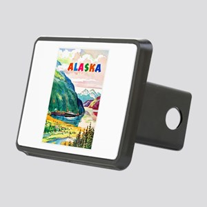 Alaska Travel Poster 2 Rectangular Hitch Cover