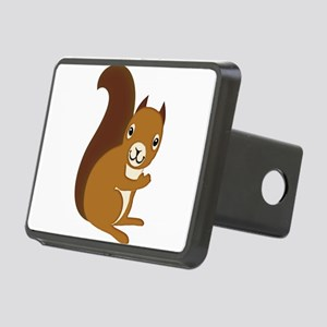Adorable Squirrel Staring Rectangular Hitch Cover