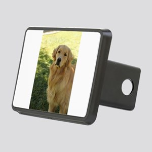 golden retriever n Rectangular Hitch Cover