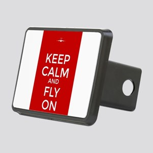 Keep Calm and Fly On Rectangular Hitch Cover