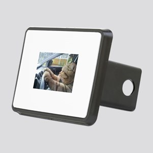 Driving Cat Rectangular Hitch Cover