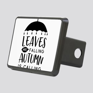 Leaves are falling autumn Rectangular Hitch Cover