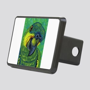 Blue Front Amazon Parrot Rectangular Hitch Cover