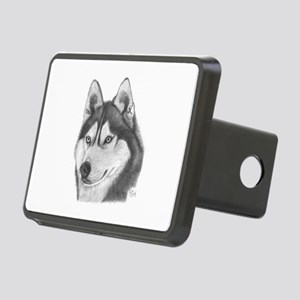 Siberian Husky Rectangular Hitch Cover