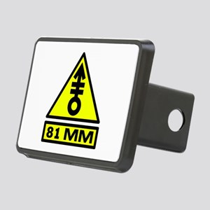 81mm warning Rectangular Hitch Cover