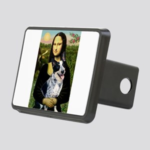Mona Lisa/Cattle Dog Rectangular Hitch Cover