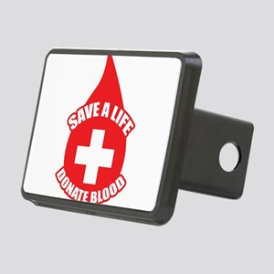 Save a Life, Donate Blood Rectangular Hitch Cover