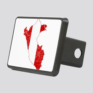 Peru Flag And Map Rectangular Hitch Cover