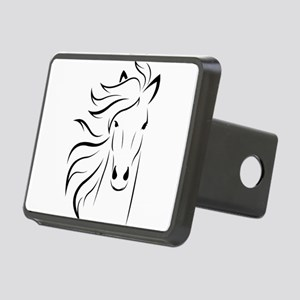Stylized Horse Portrait Rectangular Hitch Cover