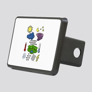 Weather chart symbols Rectangular Hitch Cover
