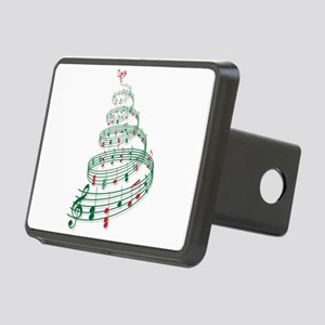 Christmas tree with music notes and heart Rectangu