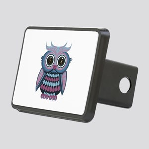 Star Eye Owl - Blue Purple Rectangular Hitch Cover