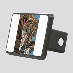 Brindle Greyhound Rectangular Hitch Cover