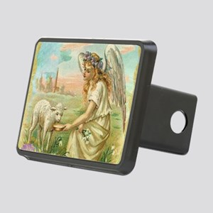 happy easter angel Rectangular Hitch Cover