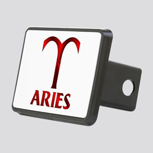 Red Aries Symbol Rectangular Hitch Cover
