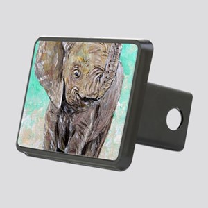 Baby Elephant Rectangular Hitch Cover