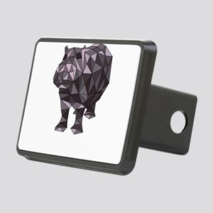 Geometric Hippo Rectangular Hitch Cover