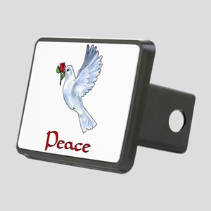 White Dove Of Peace Rectangular Hitch Cover