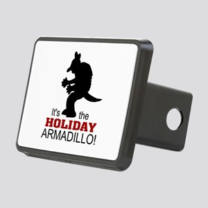 'Holiday Armadillo' Rectangular Hitch Cover