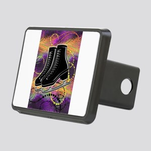 Black Ice Skates and Techn Rectangular Hitch Cover