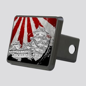 Japanese Palace and Sun Rectangular Hitch Cover