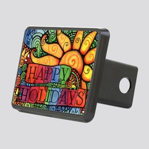 Happy Holidays Christmas P Rectangular Hitch Cover
