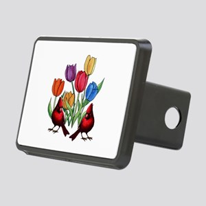 Tulips and Cardinals Rectangular Hitch Cover