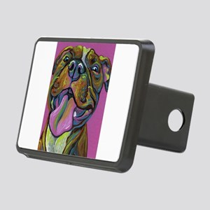 Rainbow Pit Bull Rectangular Hitch Cover