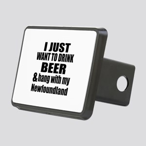Hang With My Newfoundland Rectangular Hitch Cover