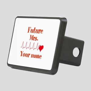 Personalizable Future Mrs. Rectangular Hitch Cover