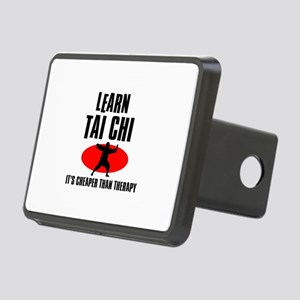 Tai Chi silhouette designs Rectangular Hitch Cover