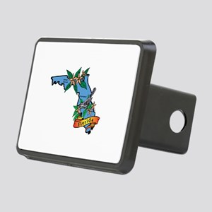 Florida Map Rectangular Hitch Cover