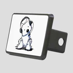 Call Center Westie Rectangular Hitch Cover