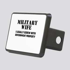 Military Wife Rectangular Hitch Cover