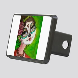 Day of the Dead Cutie Rectangular Hitch Cover