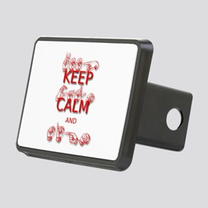 Keep Calm and Sign -in Sign Language Hitch Cover