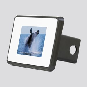 whale jumping Rectangular Hitch Cover