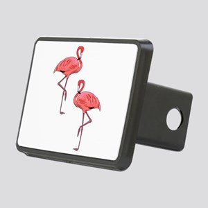 Pink Flamingo Couple Rectangular Hitch Cover
