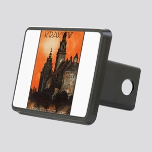 Vintage poster- Krakow Rectangular Hitch Cover