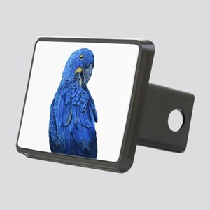 Hyacinth Macaw portrait Rectangular Hitch Cover