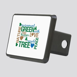 Live Green Montage Rectangular Hitch Cover