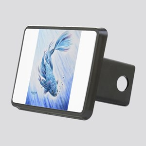 Blue Betta Rectangular Hitch Cover