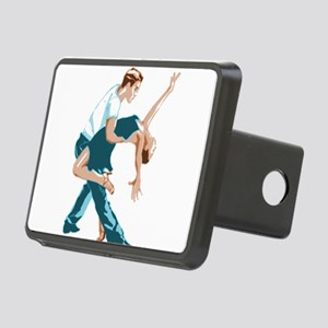 Salsa Dancers in two-tone Rectangular Hitch Cover